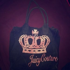 Black medium to large size Juicy Couture Bag